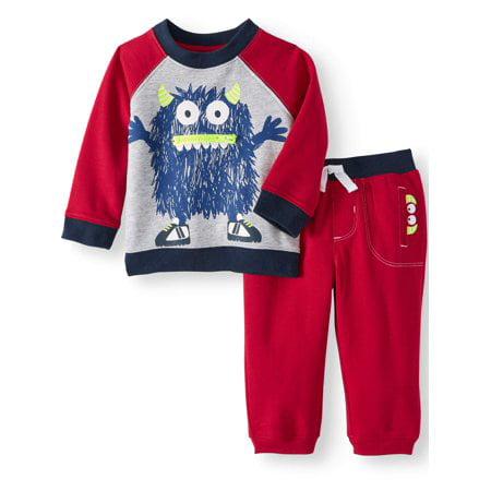 Wonder Nation Interactive Sweatshirt & Jogger Pants, 2pc Set (Baby - Flash Outfit