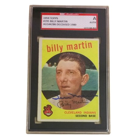 Billy Martin Cleveland Indians Auto Slabbed 1959 Topps Trading Card Sgc