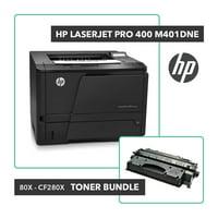 Refurbished HP Laserjet Pro 400 M401dne Printer Toner Bundle W/ HP OEM 80X CF280X