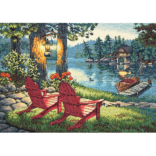 "Dimensions Gold Collection ""Twilight's Calm"" Counted Cross Stitch Kit, 16"" x 11"""