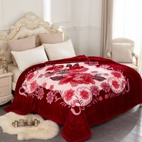 Heavy Korean Mink Plush Weighted Fleece Blanket, Multiple Sizes and Weights