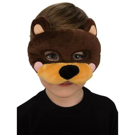 Plush Bear Eye Mask Halloween Costume Accessory - Bear Mask