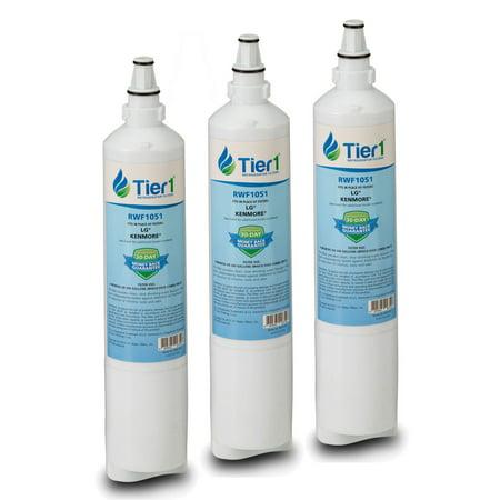 Tier1 LT600P Replacement for LG 5231JA2006A, 5231JA2006B, LG LT600P, Kenmore 46-9990, 9990, 469990, 5231JA2006F, 5231JA2005A Water Filter 3
