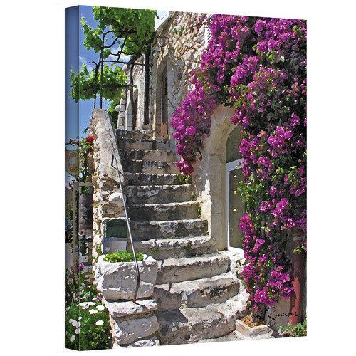 "ArtWall George Zucconi ""St Paul de Vence, France"" Wrapped Canvas"