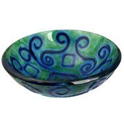 Legion Furniture Mosaic Earth Glass Circular Vessel Bathroom Sink