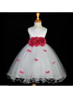 bdc99305563 Product Image Ekidsbridal Butterflies Tulle Flower Girl Dress Wedding Tulle Dresses  Toddler Girl Dresses Special Occasion Dresses Easter