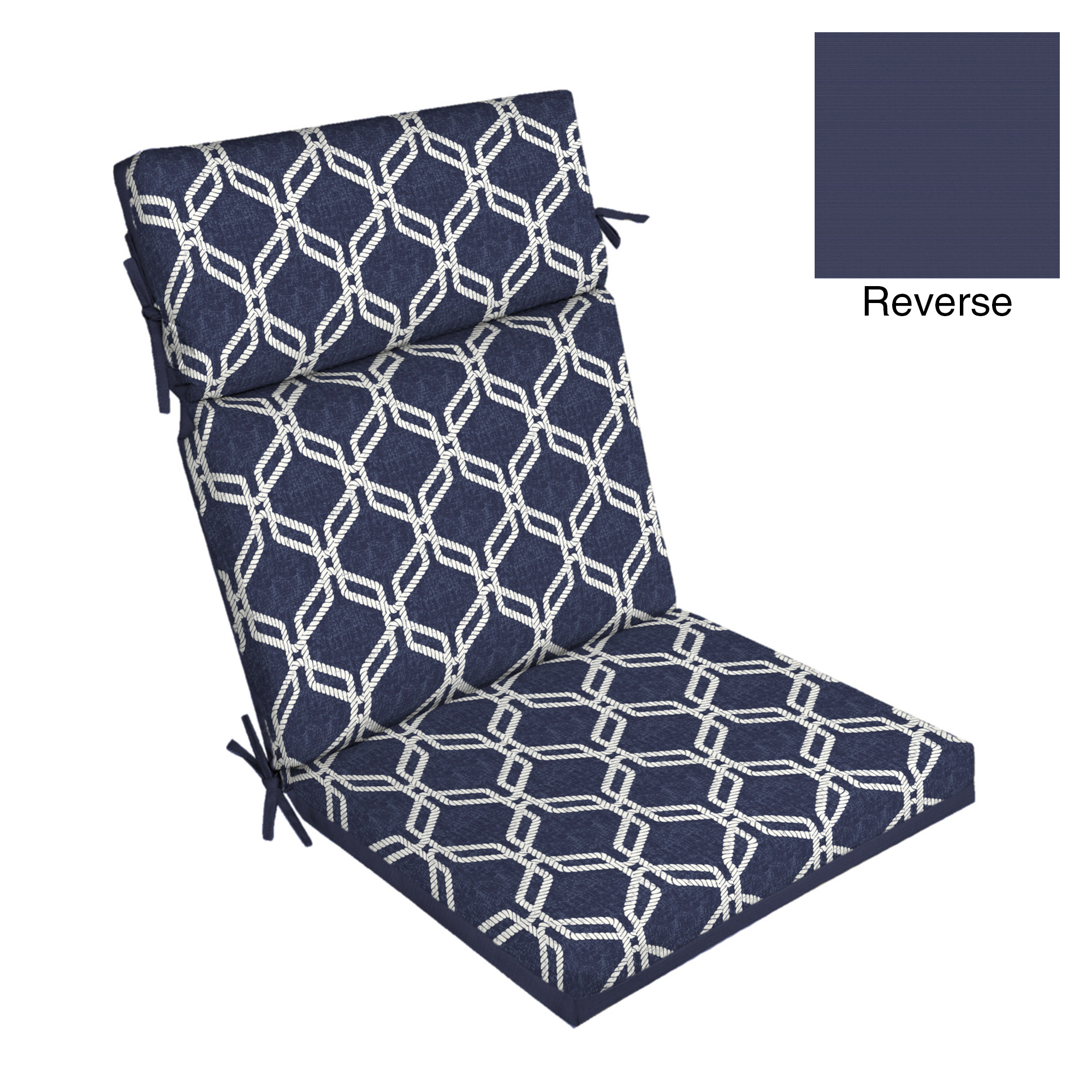 Better Homes & Gardens Hexagon Rope 44 x 21 in. Outdoor Dining Chair Cushion with EnviroGuard