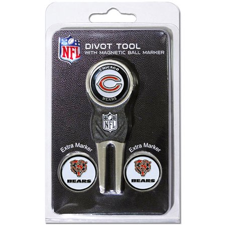 - Team Golf NFL Chicago Bears Divot Tool Pack With 3 Golf Ball Markers