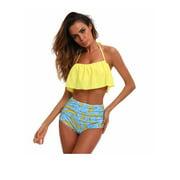 ELEOPTION 2018 New Fashion Sexy High Waisted Swimsuit Bikini Set Womens Push-up Padded Bikini Two -piece Top & Bottoms Bathing Suit Swimwear Beachwear