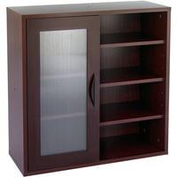 Safco, Aprs Modular Storage Cabinet, 1 Each, Cherry