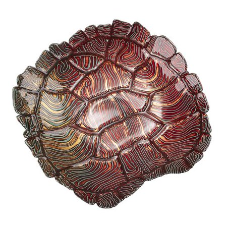 Giant Clamshell Bowl (Red Pomegranate Giant Sea Turtle Fruit)
