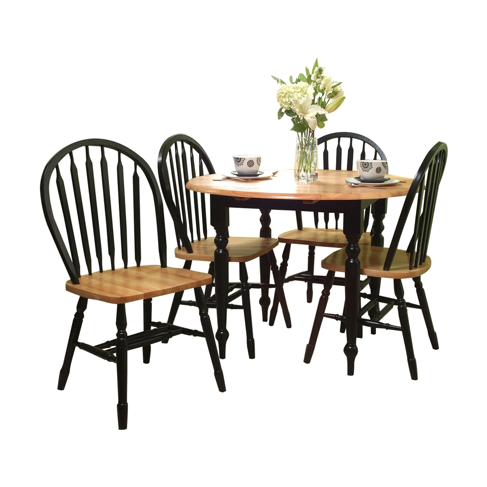 TMS Furniture 44209 5-Piece Drop Leaf Dining Set