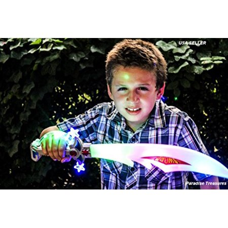 Light up Buccaneer Sword Pirate Sword with FREE LED Eye Patch (US Seller)