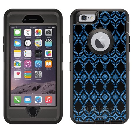 Otterbox Defender Case For Apple Iphone 6 Victorian Wallpaper Blue On Black
