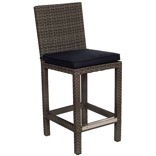 "Atlantic Monza 43"" Outdoor All-Weather Wicker Barstools, Set of 2, Gray"