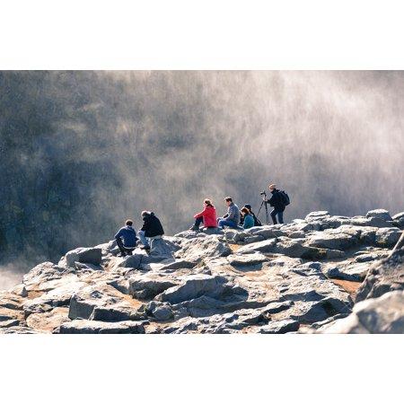 Framed Art for Your Wall Ridge Waterfalls Landscape Peak Summit Outdoor 10x13