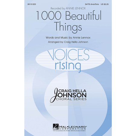 Hal Leonard 1000 Beautiful Things SATB DIVISI AND SOLO by Annie Lennox arranged by Craig Hella