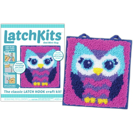 Latch Kit Mini Rug-Owl 1 Latch Hook Rug Hooking