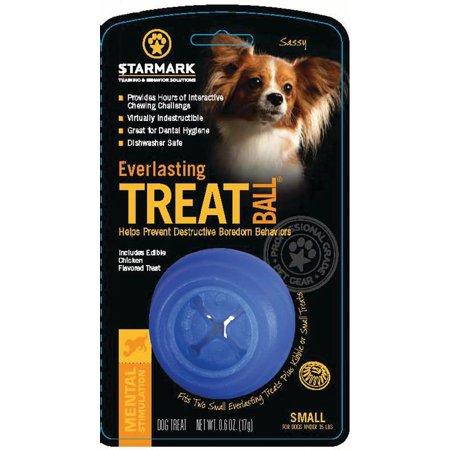 Starmark Pet Products-Everlasting Treat Ball Usa- Blue Small (Everlasting Treat Ball)