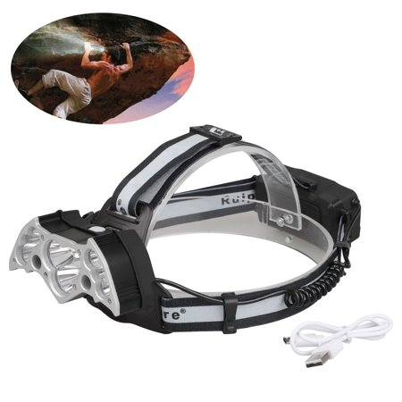 Headlamp, TSV T6 LED Headlamp USB Rechargeable head lamp flashlight, Waterproof Headlight, Best For Camping, Outdoors,