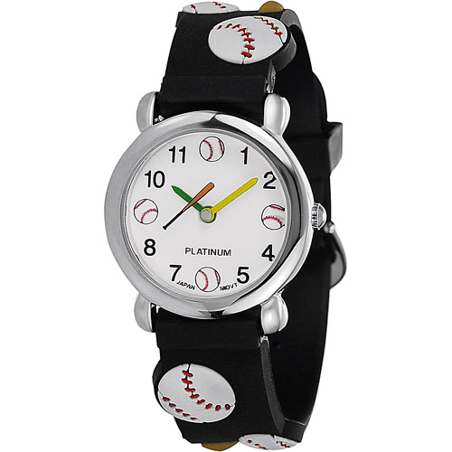 Brinley Co. Boys' Silicone Baseball Watch
