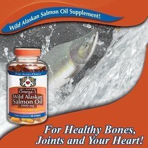 Pure Alaska oméga-3 d'huile de saumon 1000mg Gélules 180ct