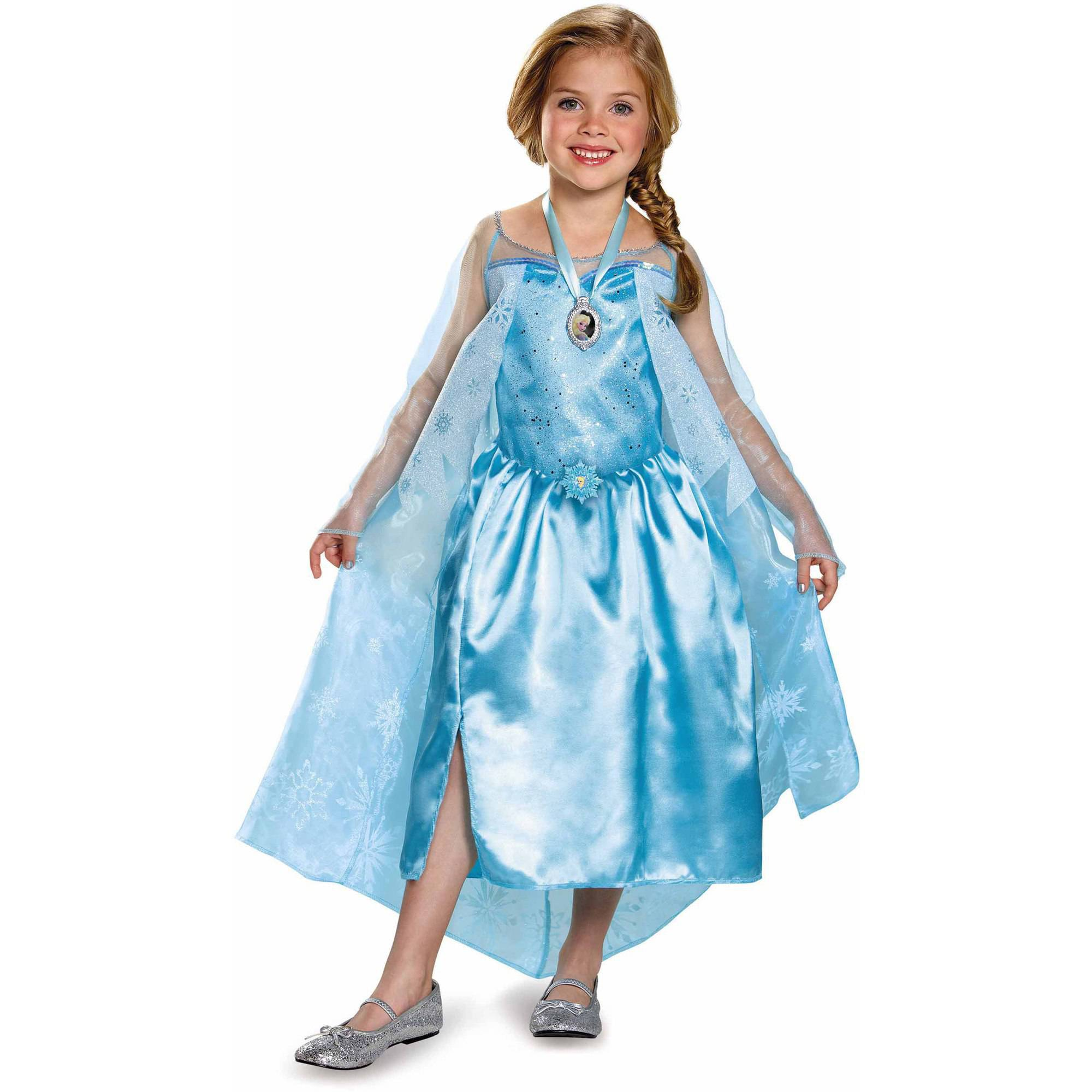 Frozen Elsa Classic Toddler Dress Up / Role Play Costume with Locket