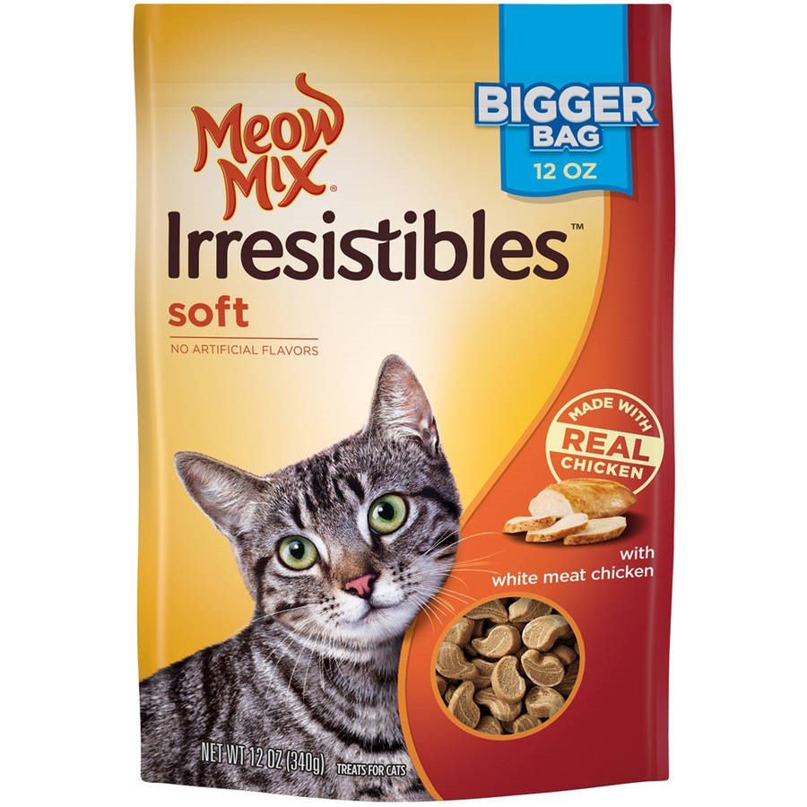 Meow Mix Irresistibles Soft White Meat Chicken Dry Cat Treats, 12 Oz