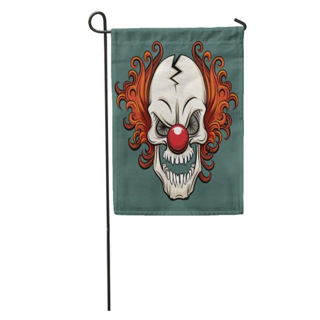 SIDONKU Colorful Creepy Evil Scary Clown Halloween Monster Joker Character Mask Garden Flag Decorative Flag House Banner 12x18 inch](Scary Halloween Monster Pics)