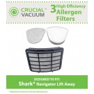 Shark Navigator Lift-Away HEPA, Foam & Felt Filters, Part # XHF350, XFF350