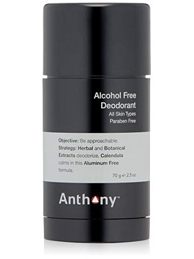 Anthony Alcohol Free Deodorant for Men, 2.5 Oz