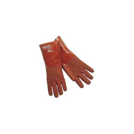 Pvc Gauntlet - MCR 12.1152S 12 in. Gauntlet Pvc Blend-Red Gloves Rough Finis