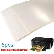 5PCS / Kit A4 Water Slide Decal Paper Inkjet Printers Waterslide Transfer Paper