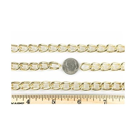 Curb Chain Welded 2.5mm 10 Foot Length Brass Finish (Welded Foot Ring)