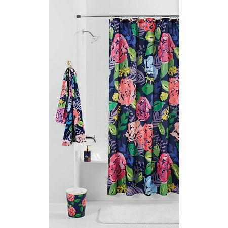Mainstays Midnight Rose Shower Curtain, 1 Each