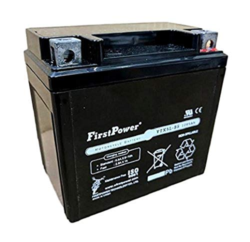 (1) FirstPower YTX5L-BS for Power Sports Batteries