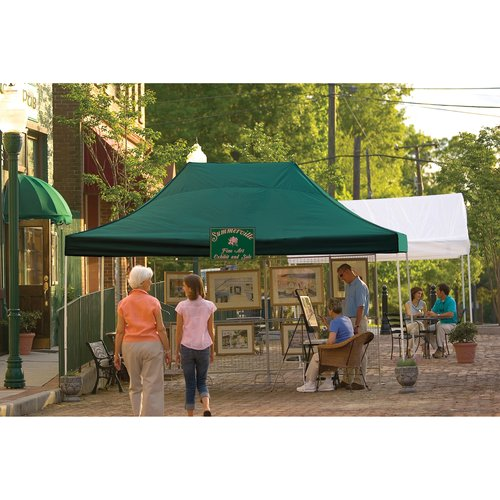 10' x 15' Pro Pop-up Canopy Straight Leg, Green Cover by ShelterLogic