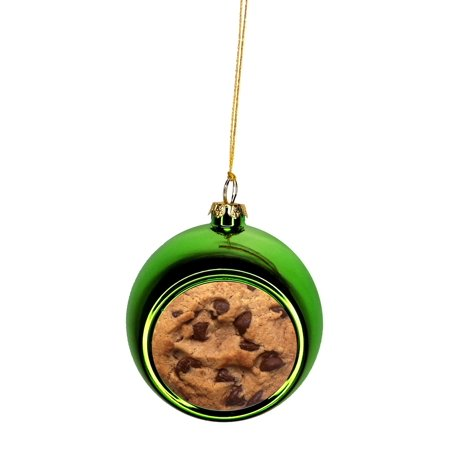 Chocolate Chip Cookie Bauble Christmas Ornaments Green Bauble Tree Xmas Balls