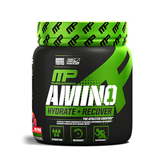 MusclePharm Amino 1 Amino Acids Powder, Fruit Punch, 30 Servings