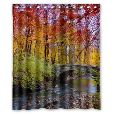 XDDJA Autumn Purple Trees Shower Curtain Waterproof Polyester Fabric Shower Curtain Size 60x72 inches - image 1 of 1
