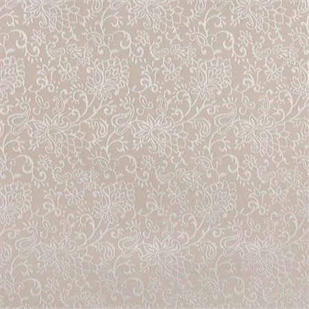 Contemporary Floral Fabric - Designer Fabrics B605 54 in. Wide Beige, Contemporary Floral Jacquard Woven Upholstery Fabric