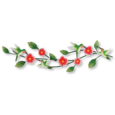 Hummingbird Metal - Hummingbird Floral Blooming Branches Metal Wall Art - Spring Home Décor for Any Room