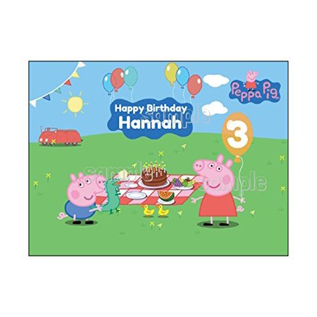 Peppa Pig Edible Frosting Image Birthday Cake Topper  1/4 sheet (Halloween Birthday Sheet Cake Ideas)