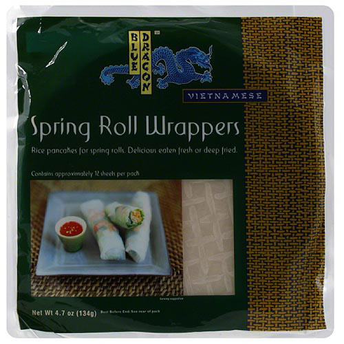 Blue Dragon Spring Roll Wrappers, 4.7 oz (Pack of 12) - Walmart.com