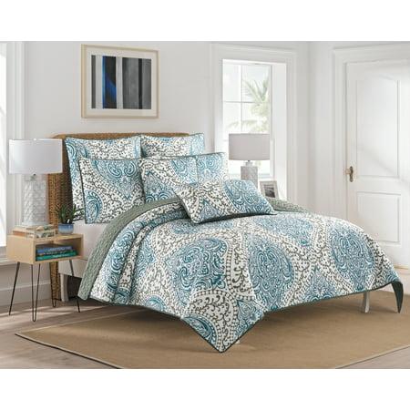 NC Home Fashions Diamond Geo printed quilt set, Twin/Twin XL
