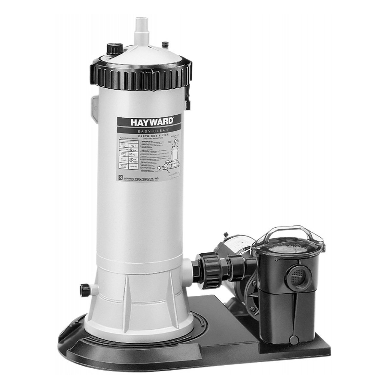 Hayward C5501575XES Easy Clear 1 HP Pool Filter System with Power Flo LX Pump