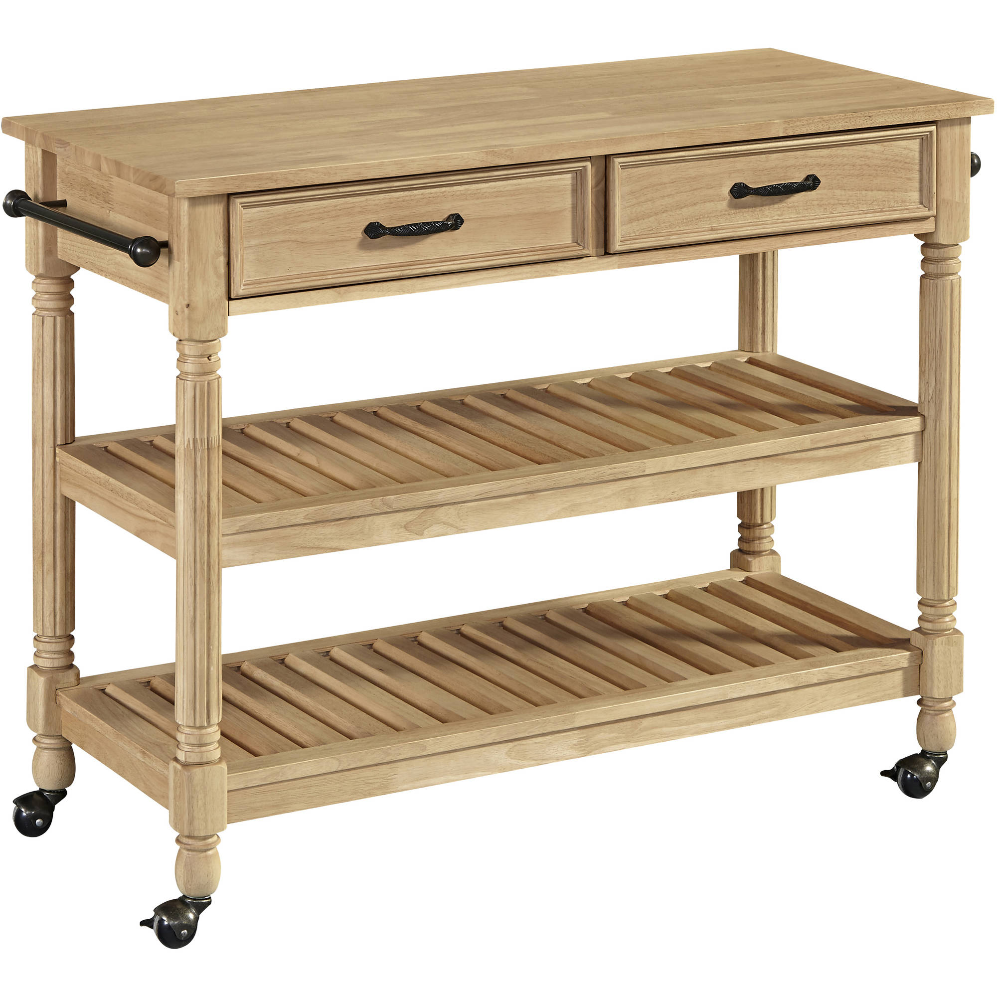 savannah natural kitchen cart - walmart