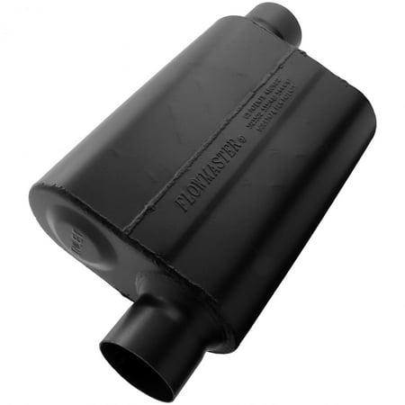 Flowmaster 943048 Super 44 Muffler - 3.00 Offset In / 3.00 Offset Out - Aggressive Sound ()