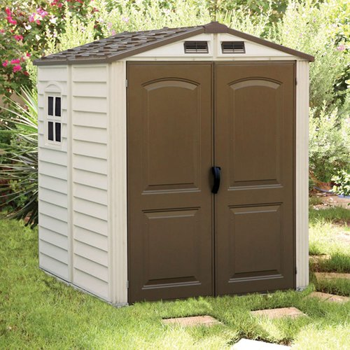 Duramax Woodside Vinyl Shed with Floor - 6 x 6 ft.
