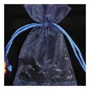 """Club Pack of 144 Extra Small Navy Blue Sheer Organza Gift Bags 4"""""""